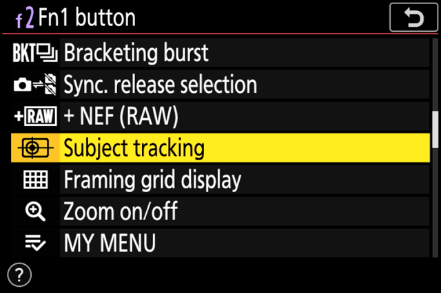 Function Button Subject Tracking Assignment