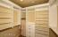 Walk-in Closet with Custom Built-ins