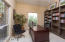 3rd bedroom is currently used as an office with built-in bookcases