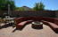 Firepit with round seating area for the Fall weather
