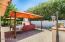 Entertainment patio area