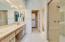 MASTER BATH - NEW TILE FLOOR + NEW SHOWER DOOR!