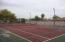 Pickleball court and tennis court