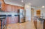 Terrific functional style kitchen with stainless steel applicances