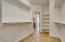 Spacious master closet complete with tile floors!