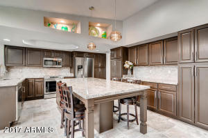 Kitchen with 8 foot island