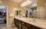 Luxurious upgraded master bathroom.