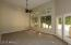 Large master suite with 14 ft. ceilings on main living level