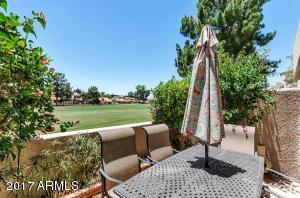Lovely patio overlooking the golf course, southern exposure