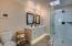 Master Bath with motion sensor under cabinet lights