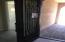 Custom Iron Front Door with Glue Chip Glass