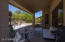 Your shaded patio is a great space for rest and outdoor enjoyment.