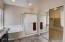 Roomy master bathroom and walk in closet