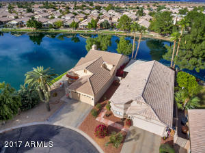 One of Ventana Lakes' finest lakefront lots. 270 degrees of lakefront from this home.