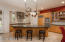 Granite counters, island dining and breakfast nook dining