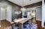 Designer wall paper, hardwood flooring