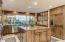 Kitchen is well appointed and very functional with more of those amazing views