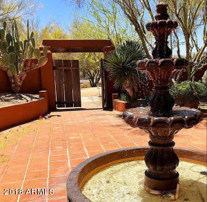 Inviting Courtyard & Cantera Water Feature