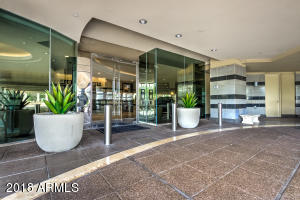 Beautiful entry to the lobby. Valet parking and 24 hour concierge service.