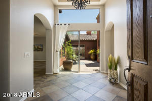 From the moment you open the door you are greeted by this beautiful courtyard.