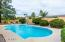 Oversized Pool Decking and water feature!