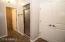 3/4 bathroom off family room & storage closet