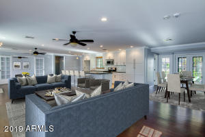 Great Room Opens to Dining and Kitchen