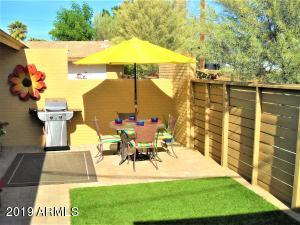 unit 104 has a private backyard for your dog and backs to a single level property