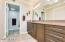 The master bath features a large vanity.