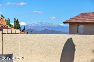 Peaks of Four Peaks and Red Mountain from property