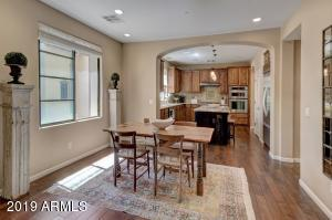 Dining room also opens to the kitchen. Like the rest of the house, there is tons of natural light here!