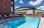 Community pool with views of Stadium