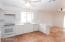 Large kitchen with ample counter space for more than one chef to have plenty of room.