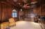 EXECUTIVE OFFICE/DEN/LIBRARY, WOOD CEILING, GAS FIREPLACE
