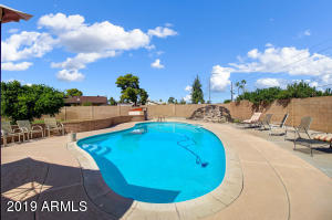 Diving pool with decking. Mature landscaping, grass plenty of room to play and entertain