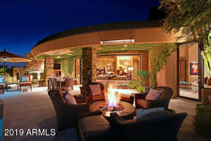 Lots of entertaining areas including this fireside seating area.