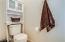 Toilet area in the master bathroom.