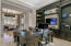 Custom built in cabinets with home monitoring system