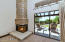 Gas Stacked Stone Fireplace in Master Sitting Area
