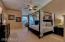Spacious master suite w/ sitting area