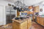 Spacious kitchen with large walk-in pantry