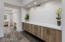 Custom floating cabinetry in master
