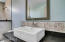 Full bathroom in hangar.