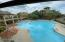 A partial view from upstairs of this amazing pool