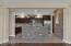 Gorgeous kitchen with brick finish, tile back splash and gas range!