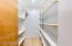 Huge walk-in pantry.
