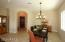 DINING AREA IN GREAT ROOM! CUSTOM SPOTS & LIGHTING ADDED BY SELLERS!