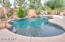 Heated pool with baja shelf.