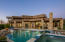 Infinity Pool with waterfall feature and Spa. Swim-up bar in pool. (Pool drained and new water 7/20)