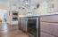 Wine fridge in kitchen island